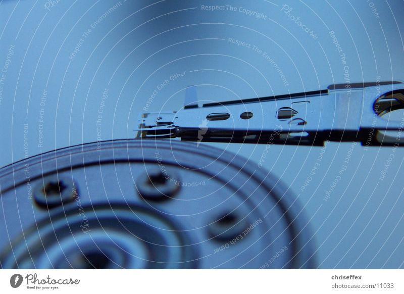 Micro'hdd'close-up blau Spiegel silber Fototechnik Festplatte