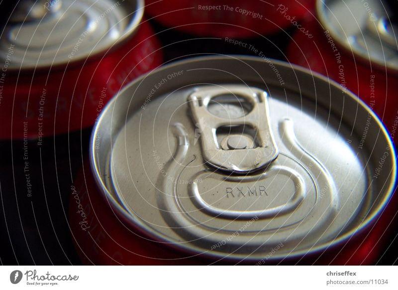 dose'close-up oben Metall Dinge silber Dose Aluminium Öffnung Getränkedose Dosenpfand Aluminiumbehälter Coladose