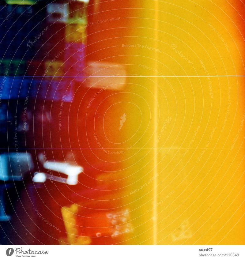 venturesome 1 Licht Explosion gelb Holga abstrakt Lomografie Reflexion & Spiegelung Licht auf Film Lightleaks