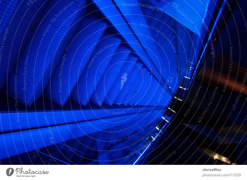 blue'move blau oben Bewegung Technik & Technologie Rolltreppe Elektrisches Gerät