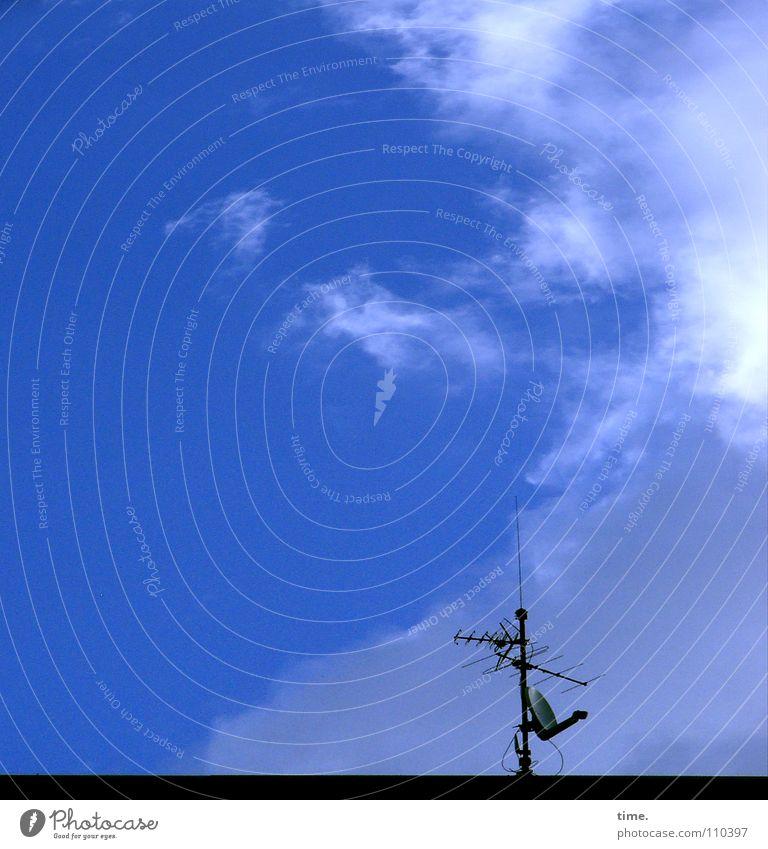 Tanzender Geiger, der Musik für die Engel macht - findet Lukas Farbfoto Außenaufnahme Haus Fernsehen Radio Himmel Wolken Antenne Freude Leben Bunker Begrüßung