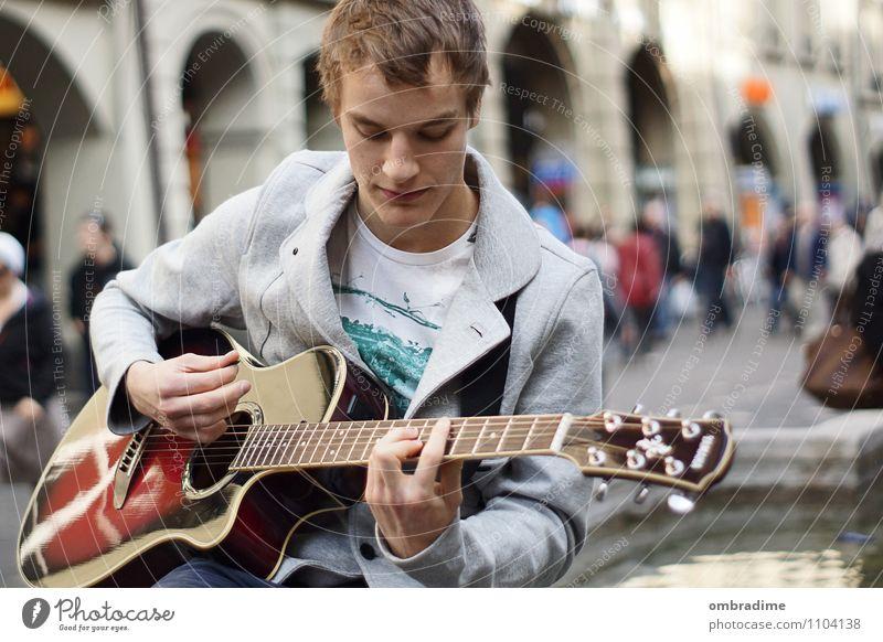 guitar player Lifestyle Freizeit & Hobby Freiheit Mensch maskulin Junger Mann Jugendliche Erwachsene Leben 1 18-30 Jahre Künstler Musik Sänger Musiker Gitarre