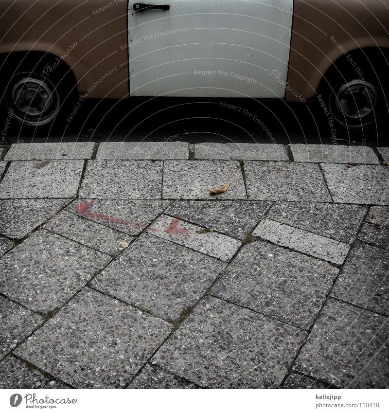 einheitskanzlerlimousine Bewegung PKW Deutschland fahren Güterverkehr & Logistik Autotür Bürgersteig Verkehrswege DDR Griff Motor Osten Rest Wiedervereinigung