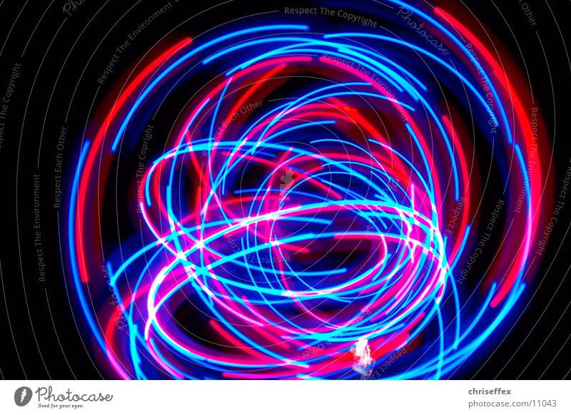 blink'a'round Licht Leuchtspur rot Langzeitbelichtung Schwanz Fototechnik blau dynamic Bewegung