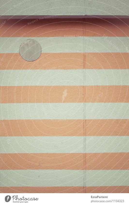 stripes and dot Haus Bauwerk Gebäude Architektur Mauer Wand Fassade Beton Linie Streifen grau orange weiß Design Farbe Ecke Kante Grafik u. Illustration