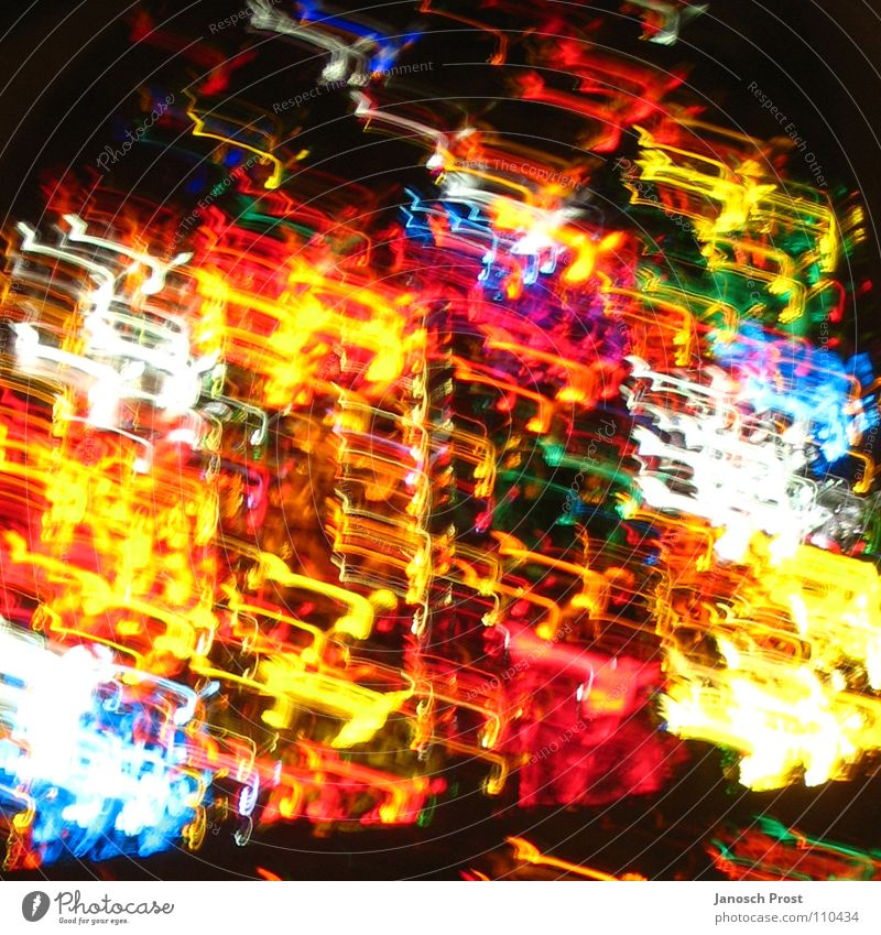 silent-color-storm Kunst leuchten träumen blau gelb grün rot weiß Kraft Farbe Farbenspiel Farbfoto mehrfarbig abstrakt Menschenleer Nacht Licht