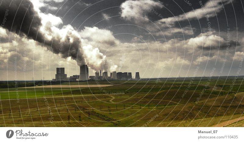RENATURIERUNG Farbfoto Außenaufnahme Menschenleer Licht Kontrast Panorama (Aussicht) Ferne Wirtschaft Industrie Energiewirtschaft Technik & Technologie