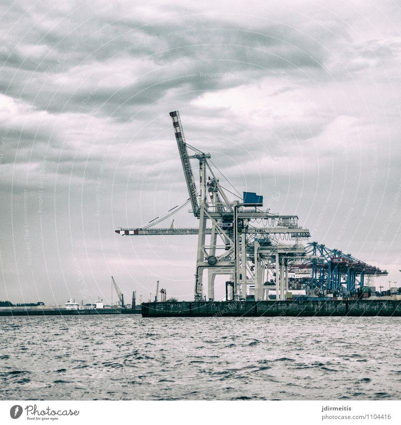 Containerkräne Ferien & Urlaub & Reisen Stadt Business Wachstum Tourismus Verkehr Technik & Technologie Ausflug Industrie Hamburg Güterverkehr & Logistik Hafen