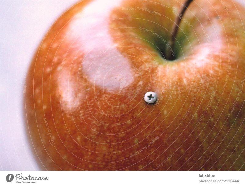 apple 2.0 Natur rot Sommer gelb Herbst Informationstechnologie Lebensmittel Metall Gesundheit Frucht frisch natürlich Apfel fest lecker