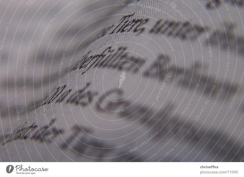 Typo Zeitung Typographie Buchstaben Nahaufnahme Zickzack weiß Zeile Dinge Schriftzeichen