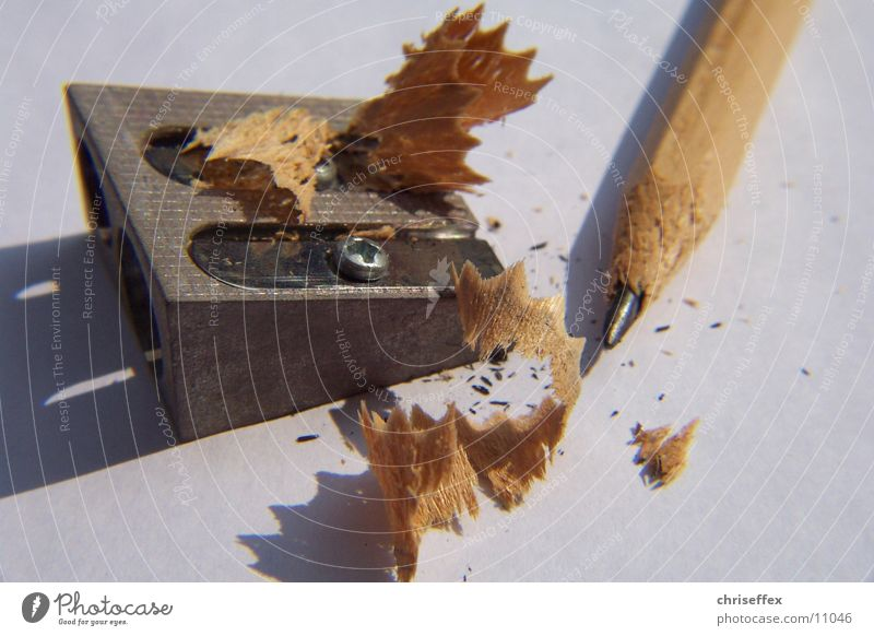Spitz'er weiß Holz braun Spitze streichen Dinge zeichnen Bleistift Schreibstift Anspitzer