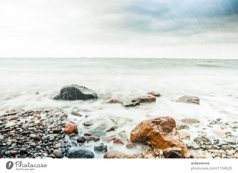 Ostsee Wasser Landschaft Wolken Horizont Wetter Zufriedenheit Wind Gelassenheit Wachsamkeit Sturm schlechtes Wetter achtsam