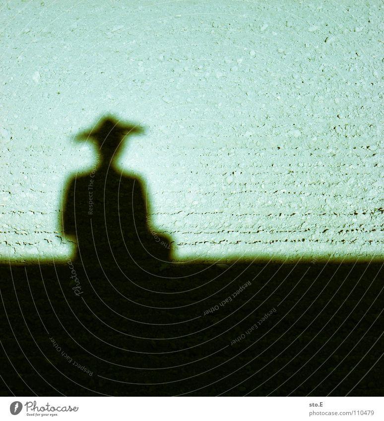 ein chinese ohne kontrabass Schatten verdunkeln Feld Muster Ordnung Mütze gemütlich bequem Osten Freizeit & Hobby Asien Sonne Schönes Wetter Sand Mensch Hut