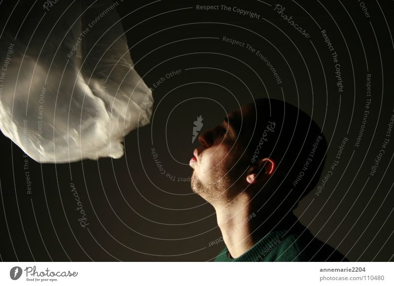 Air dunkel Luft Wind Aktion Vergänglichkeit blasen Wölbung Rauschmittel Männerkopf