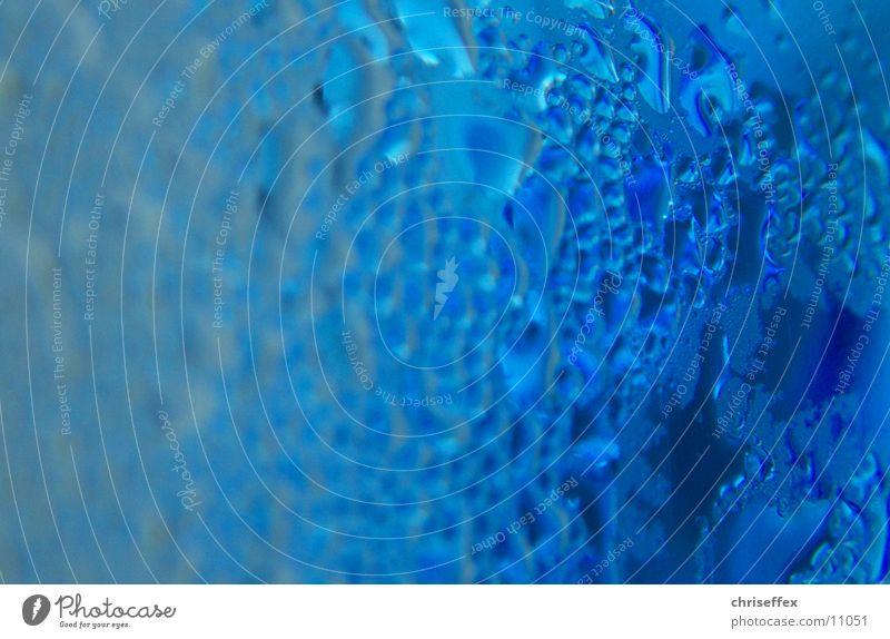 She's wet Wasser blau Glas Wassertropfen Seil blasen Flasche feucht