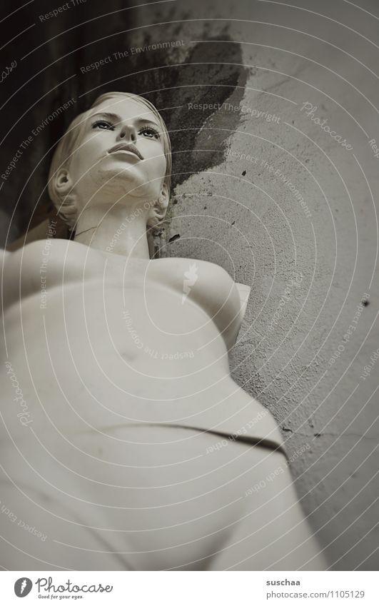 body (mit kopf) Schaufensterpuppe nackt Körper Torso Frauenbrust Kopf Bauch falsch Fehlstellung