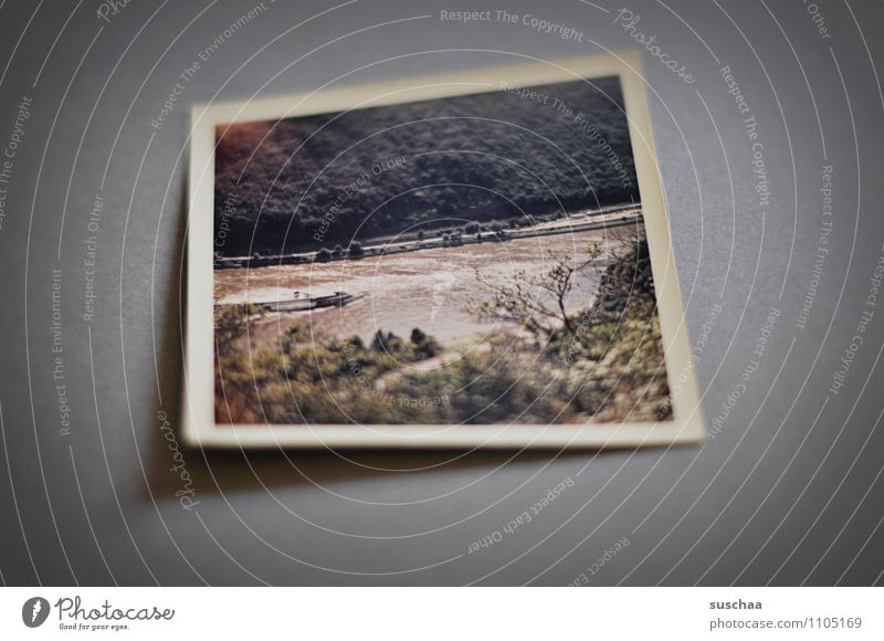 altes farbfoto analog analoge Fotografie Farbfoto Landschaft Hintergrund neutral Erinnerung Familienalbum