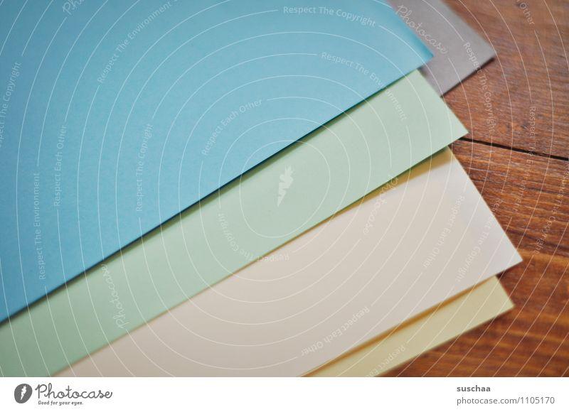 papier Papier Buntpapier Bastelmaterial Seiten mehrfarbig gerade Linien Holzfußboden leer