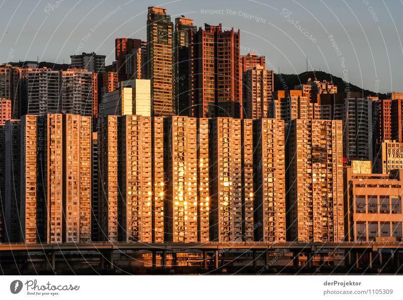 Goldene Zellen in Hongkong Ferien & Urlaub & Reisen Tourismus Ausflug Abenteuer Sightseeing Städtereise Kreuzfahrt Häusliches Leben Wohnung Hauptstadt