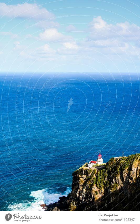 Leuchtturm Nordeste auf den Azoren Natur Ferien & Urlaub & Reisen Pflanze Sommer Meer Landschaft Tier Ferne Berge u. Gebirge Umwelt Küste Freiheit Felsen Tourismus Wellen Insel
