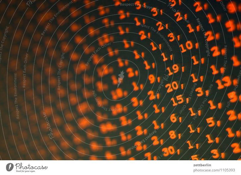Matrix Bildschirm Bildschirmfoto Computer rot Ziffern & Zahlen Reihe Kennwort Software Programmiersprache Mathematik Zifferblock geheimnisvoll