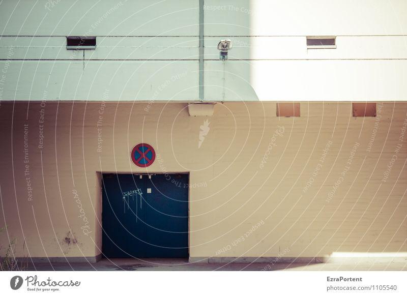 X Stadt blau Sonne Haus Fenster Wand Architektur Gebäude Mauer grau Stein Linie Fassade Design Tür Schilder & Markierungen