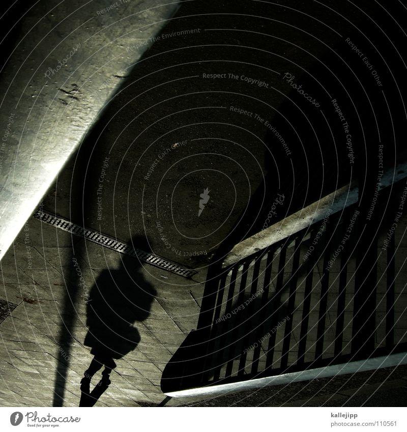 dark zone Frau Mann schwarz Stein Arbeit & Erwerbstätigkeit laufen mehrere Schnur Spaziergang Laterne Bürgersteig Schüler Straßenbelag anonym falsch