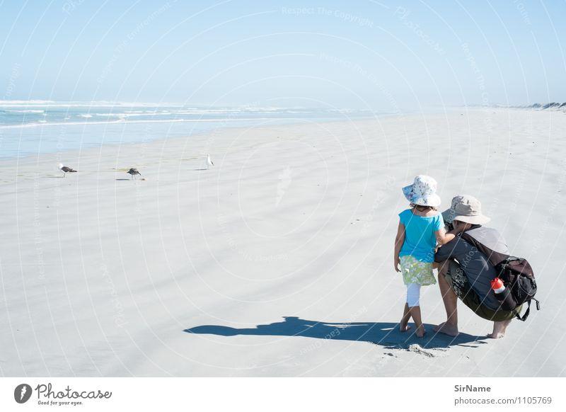 355 Mensch Kind Natur Ferien & Urlaub & Reisen Mann Sommer Meer Tier Mädchen Strand Ferne Erwachsene Leben Freiheit Vogel Zusammensein