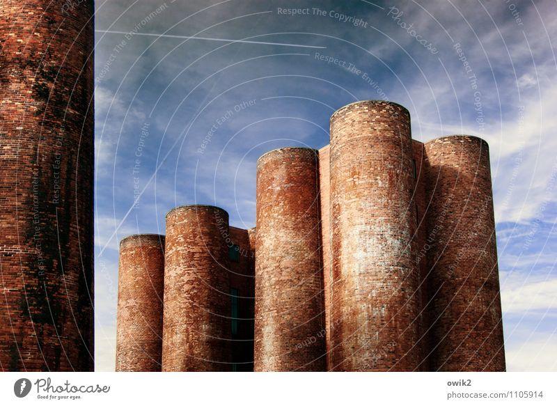 Hoch hinaus Himmel alt Architektur Gebäude Deutschland Zusammensein Energiewirtschaft stehen hoch groß Technik & Technologie Industrie historisch Bauwerk