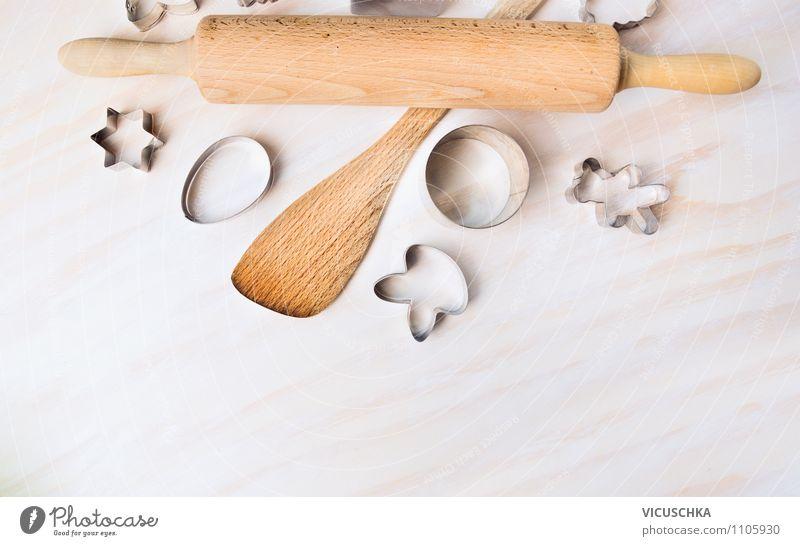 Backen Geräte und Ostern Ausstechformen weiß Frühling Stil Hintergrundbild Feste & Feiern Design Tisch Kochen & Garen & Backen Stern (Symbol) Küche
