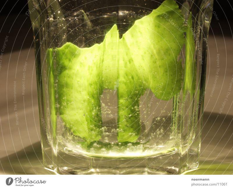 Alge im Glas Wasser grün Glas Algen