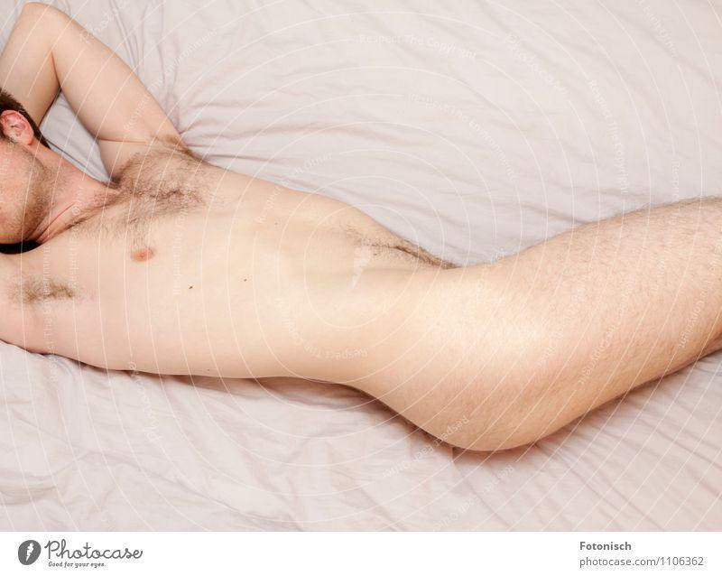 verdreht Mensch maskulin Junger Mann Jugendliche Erwachsene Oberkörper Behaarung 1 18-30 Jahre Achselhaare Brustbehaarung liegen ästhetisch Erotik frei nackt