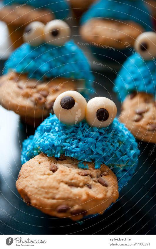 Keksäääääää! Lebensmittel Süßwaren Ernährung Essen Kaffeetrinken Gesunde Ernährung Übergewicht Feste & Feiern Fressen Gesundheit lecker süß blau braun Begierde