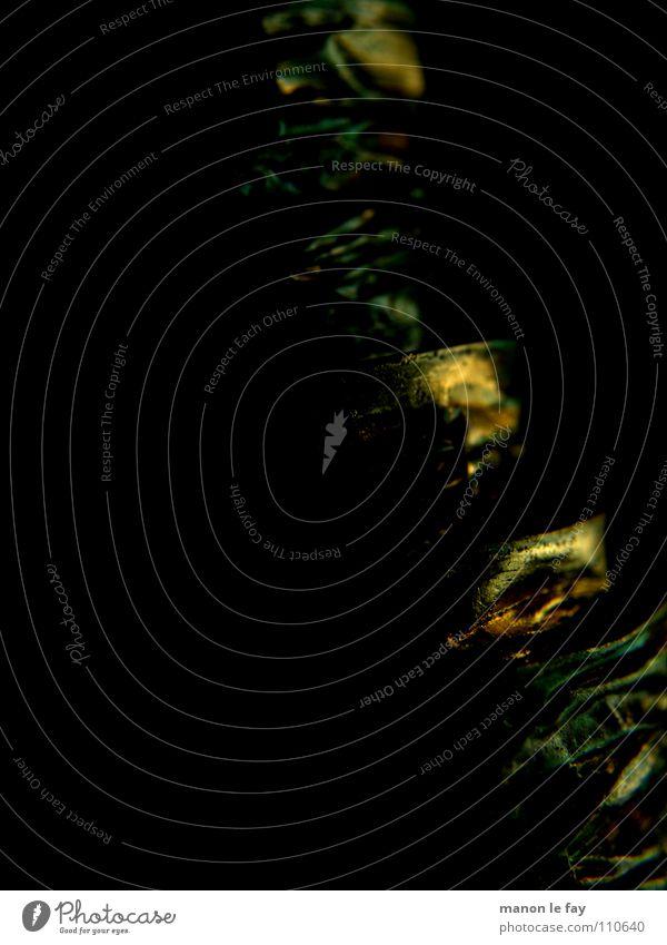 Guess what II grün schwarz Bewegung gold verrückt Schnur obskur Spirale kupfer geschwungen