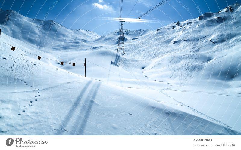 Nach oben Skipiste Wetter Schnee Berge u. Gebirge Gletscher Ferien & Urlaub & Reisen Ischgl mehrfarbig Außenaufnahme Menschenleer Licht Reflexion & Spiegelung