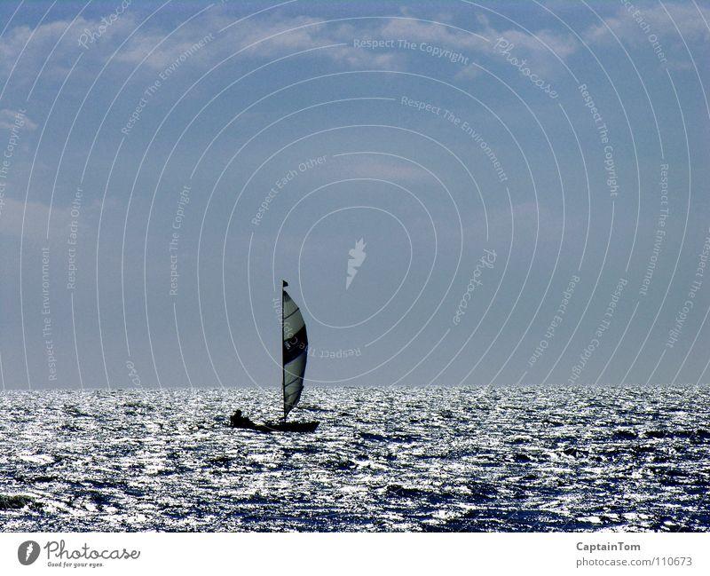 Trimaran auf der Irischen See Segeln Schottland Gegenlicht Meer Sport Spielen Geoff Holt Irische See Off-shore