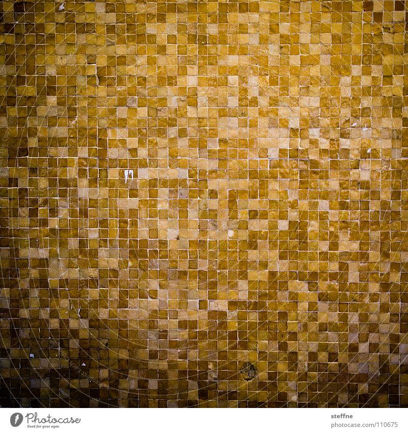 Tetris [Special Edition] schwarz gelb Wand Spielen Stein Mauer Linie orange braun glänzend Fassade Computerspiel Fliesen u. Kacheln Quadrat kariert sortieren