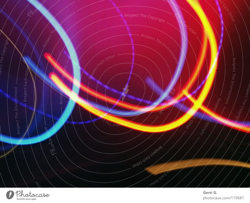 good vibrations schwarz Farbe dunkel Bewegung Musik Linie hell glänzend rosa dünn Streifen Konzert obskur türkis durcheinander