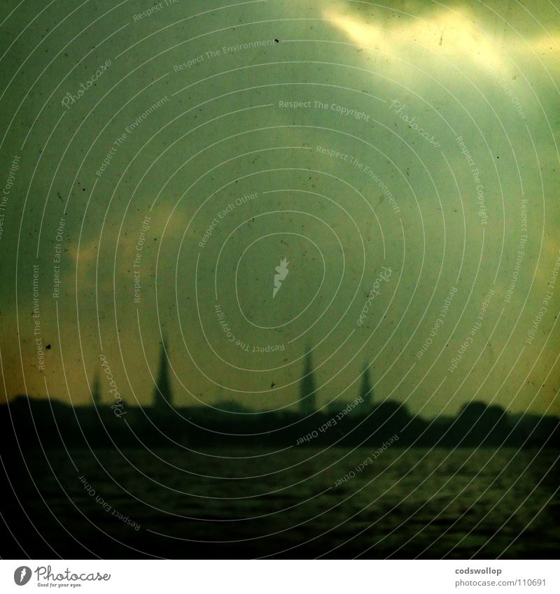 alsterwasser Wasser Himmel Stadt Winter See Religion & Glaube Hamburg Horizont Skyline Alster Binnenalster Außenalster Turmspitze Uhlenhorst