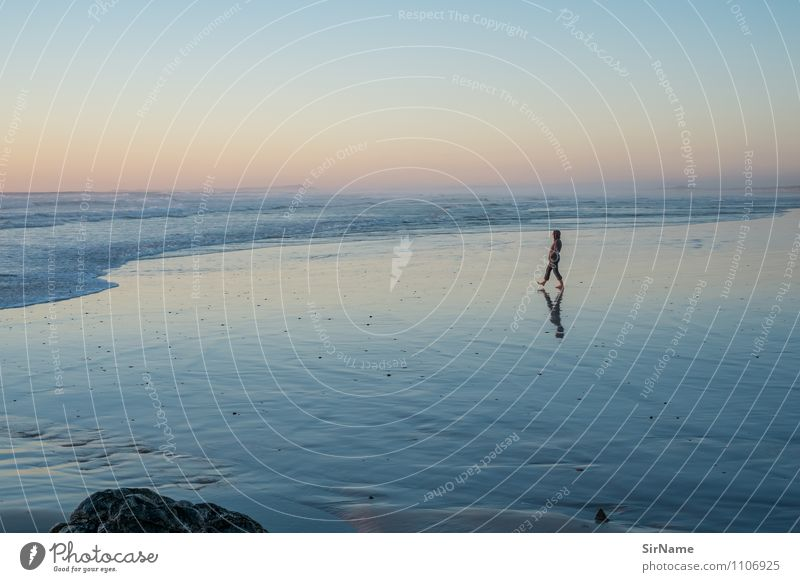362 harmonisch ruhig Ferien & Urlaub & Reisen Ferne Freiheit Strand Meer Ruhestand Feierabend Junge Frau Jugendliche Leben 1 Mensch 30-45 Jahre Erwachsene Natur
