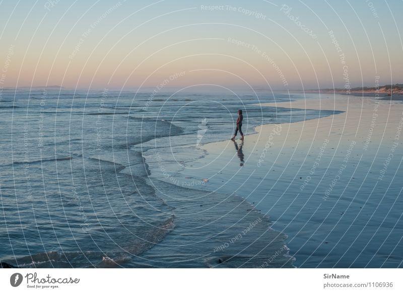358 harmonisch Ferien & Urlaub & Reisen Tourismus Ferne Freiheit Sommerurlaub Strand Meer Leben 1 Mensch Natur Landschaft Wasser Wolkenloser Himmel