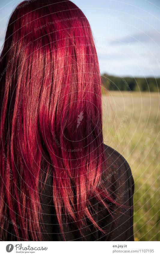 Haaare Haare & Frisuren feminin Junge Frau Jugendliche Erwachsene Kopf 1 Mensch 13-18 Jahre Kind 18-30 Jahre rothaarig langhaarig außergewöhnlich trendy