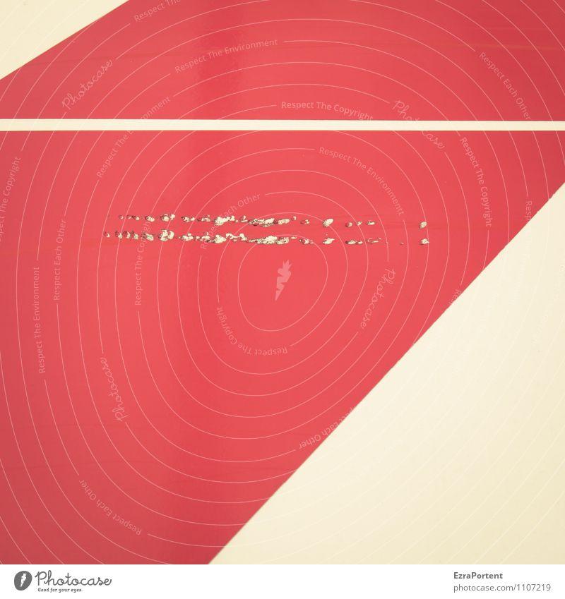 paint it red Farbe weiß rot Linie Design kaputt Grafik u. Illustration graphisch diagonal gerade Zerstörung Grafische Darstellung Kratzer