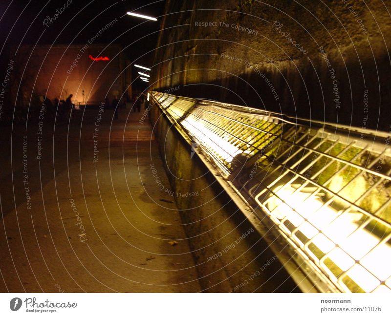 Go this way ! Leuchtstoffröhre Wand Nachtleben Club Muffathalle