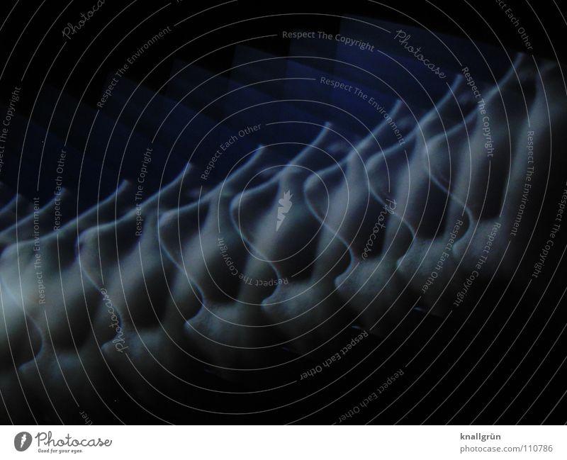 Sinnesorgan Sinnesorgane vielfach dunkel grau Farbe Nase Geruch Fotokunst hell blau Himmelfahrtsnase Farbabstufung
