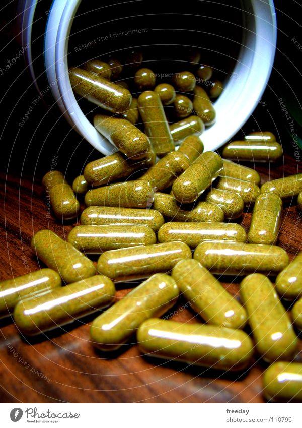 ::: Gesundheit! ::: Pharmazie Medikament Tablette Zwang Rauschmittel Vitamin Kopfschmerzen Dinge Winter Gesundheitswesen Tisch grün mehrere unheilbar Pulver
