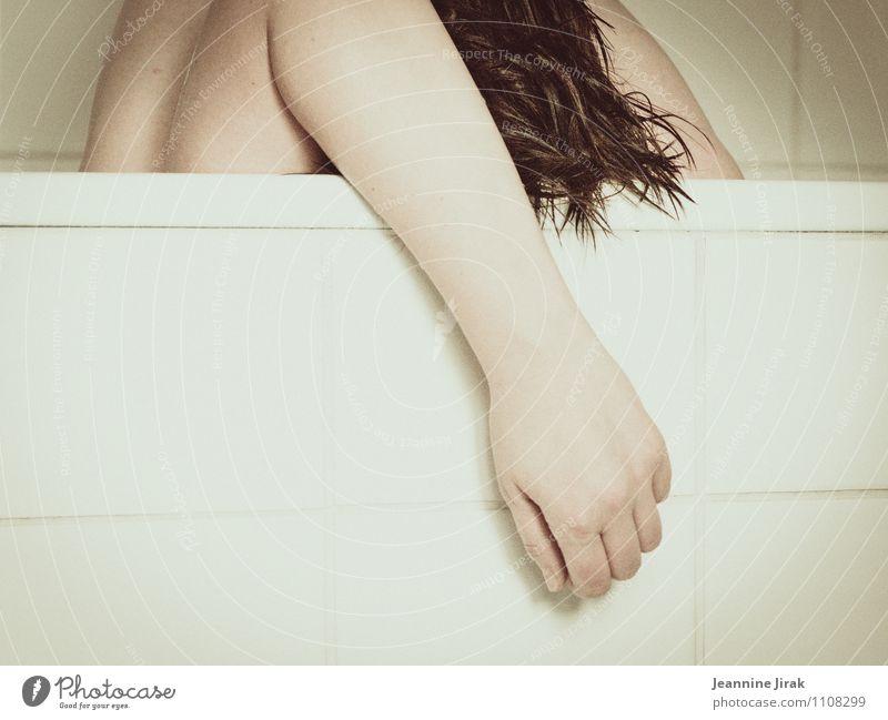 Burnout II Mensch feminin Frau Erwachsene Körper Kopf Haare & Frisuren Finger Bauch 1 18-30 Jahre Jugendliche 30-45 Jahre brünett kurzhaarig weiß Gefühle