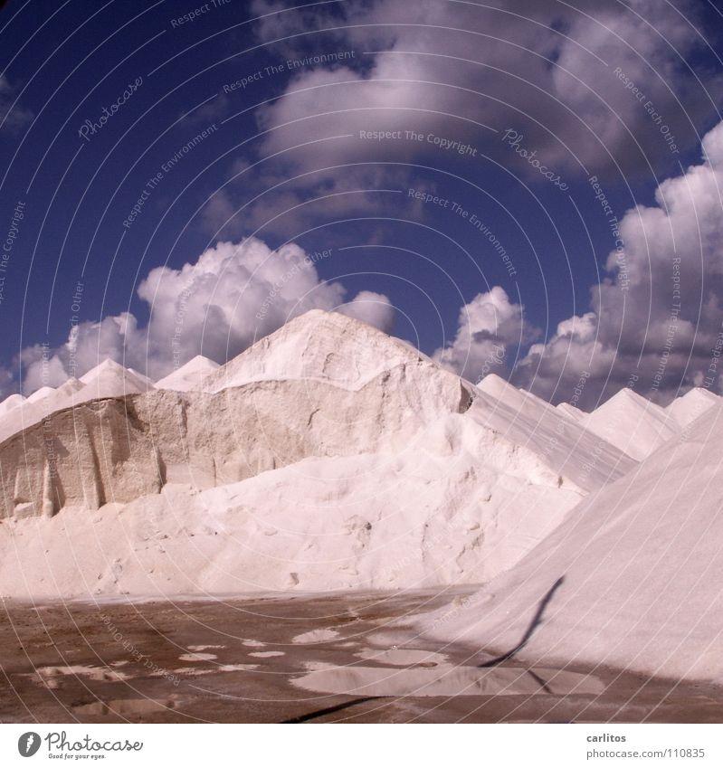 Mallorquinische Alpen Sommer obskur Mallorca Salz Mineralien Produktion Balearen Saline lebenswichtig