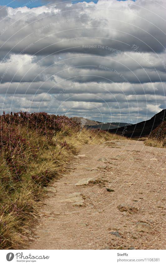 der Himmel über Schottland Natur Ferien & Urlaub & Reisen Sommer Landschaft ruhig Wolken Wege & Pfade Stimmung wandern Fußweg Hügel nah Sommerurlaub