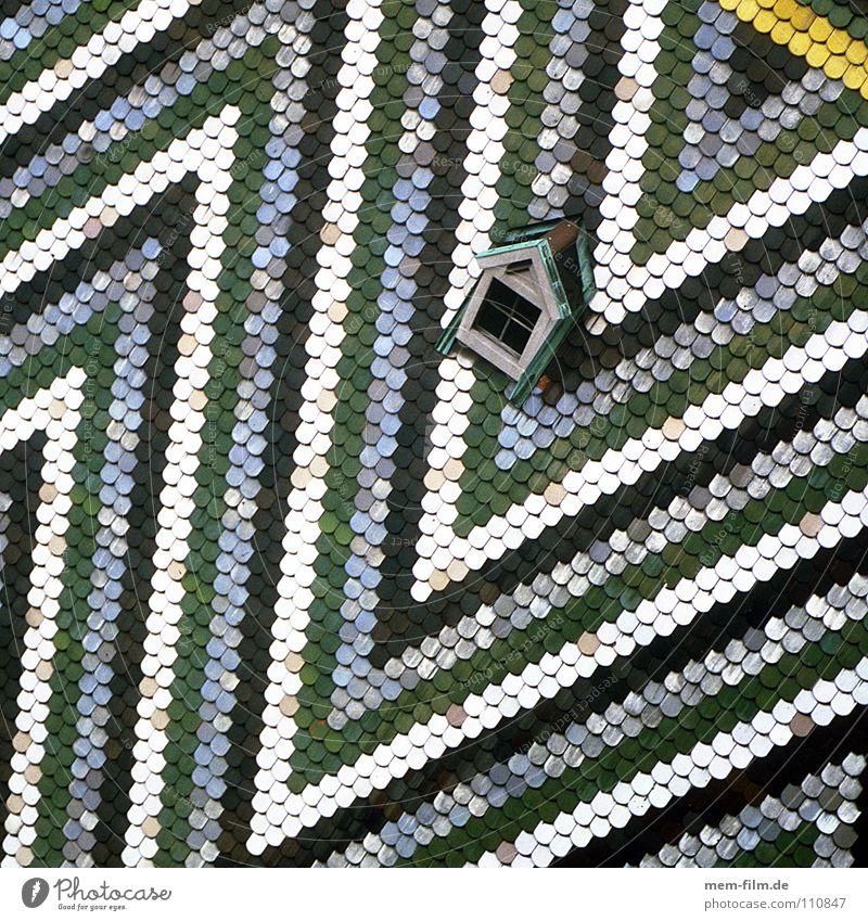 dachdreieck alt weiß grün blau gelb Religion & Glaube Design Dach Streifen Backstein Österreich Dom Wien Dreieck Dachziegel Gotteshäuser